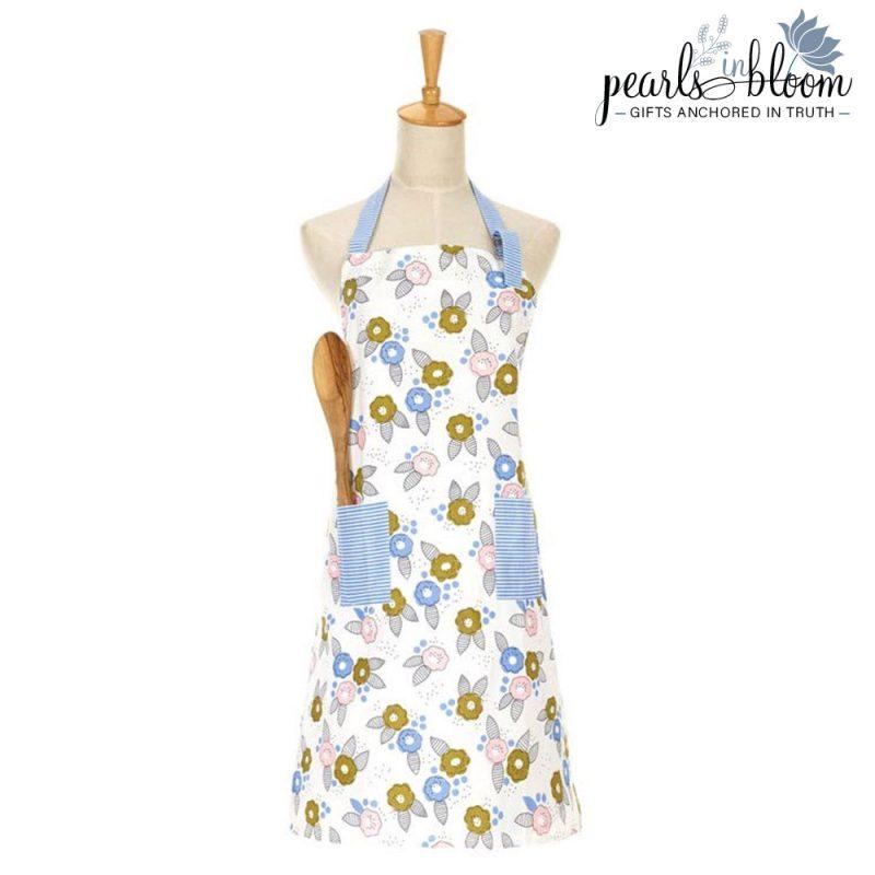 floral bloom apron